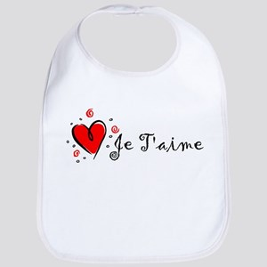 """I Love You"" [French] Bib"